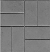 Формы для тротуарной плитки «8 кирпичей — шагрень» глянцевые пластиковые АБС ABS