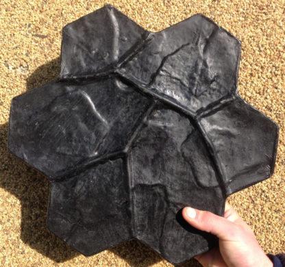 """Полиуретановый штамп для бетона """"Каменный цветок"""" малый"""